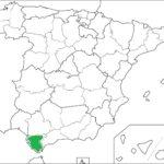 Mapa mudo ciudad andaluza