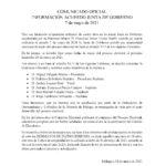Comunicado Oficial Inicio Proceso Electoral